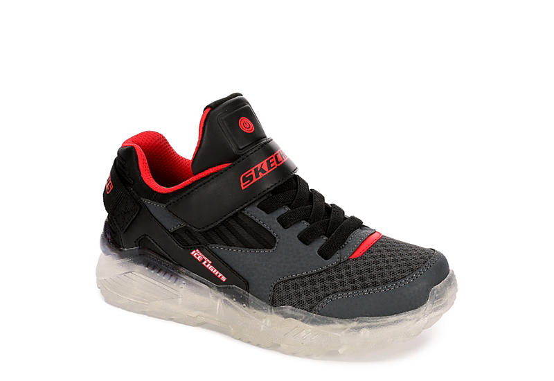 SKECHERS Boys Ice Lights Arctic-tron - Zollow - DARK GREY
