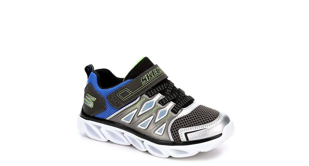 SKECHERS Boys Hypno Flash  Swiftest - SILVER