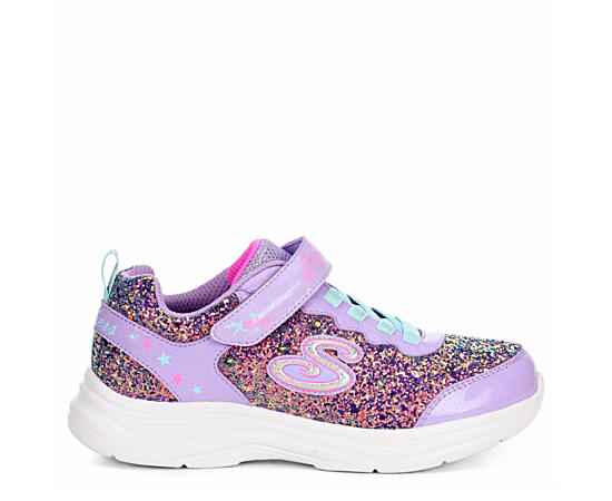 Girls Glimmer Kicks - Glitter N Glow Light Up Sneaker