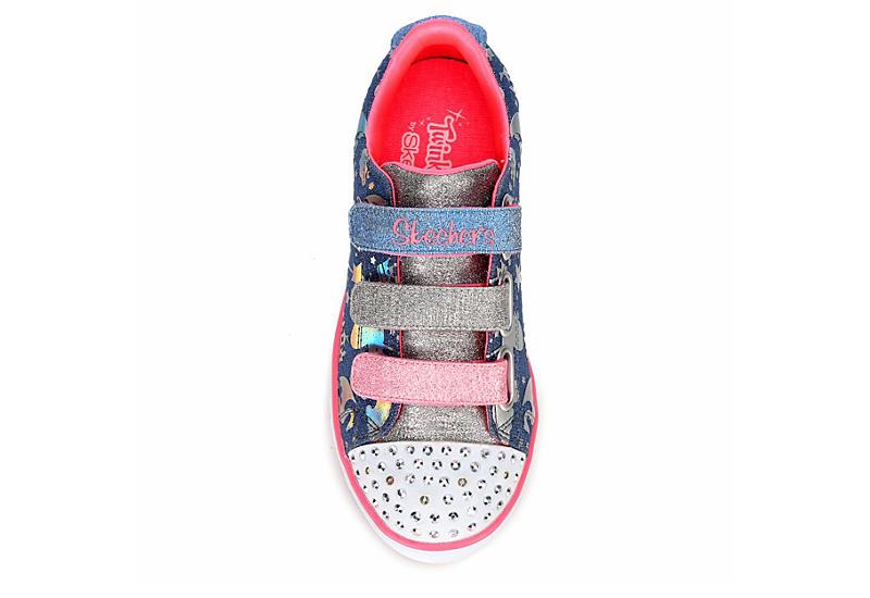 SKECHERS Girls Twinkle Toes Sparkle Lite - Sparkleland - DENIM