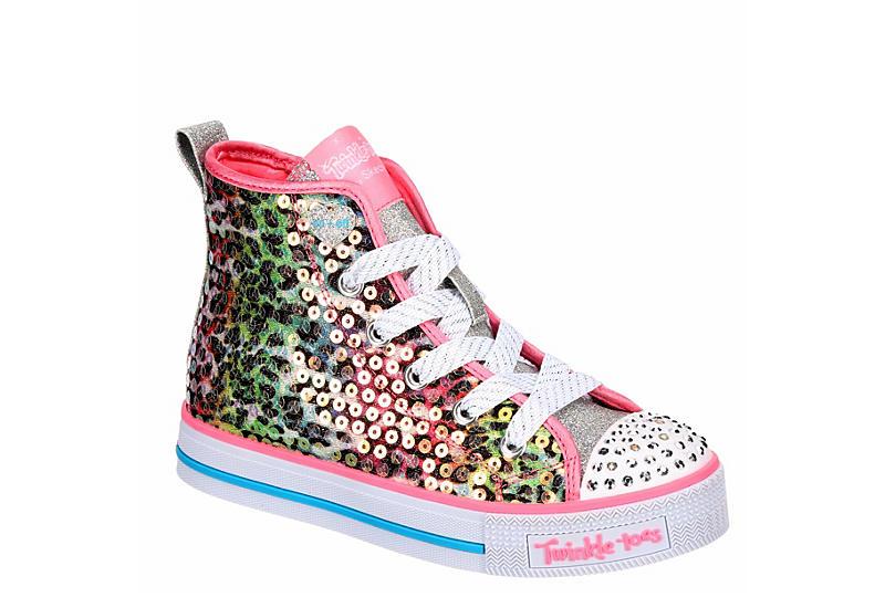 SKECHERS Girls Twinkle Toes Twinkle Lite - Leopard Glitz - LEOPARD