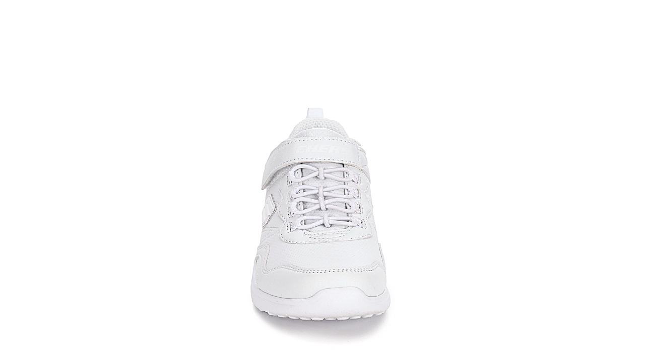 SKECHERS Girls Microstrides - School Sport Sneaker - WHITE