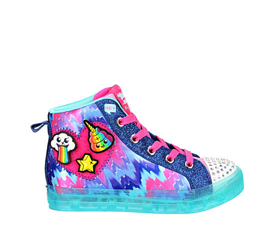 Girls Twinkle Toes Shuffle Brights High Top Sneaker