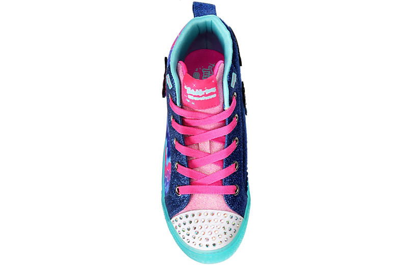 SKECHERS Girls Twinkle Toes Shuffle Brights - Mix N Patch - BLUE