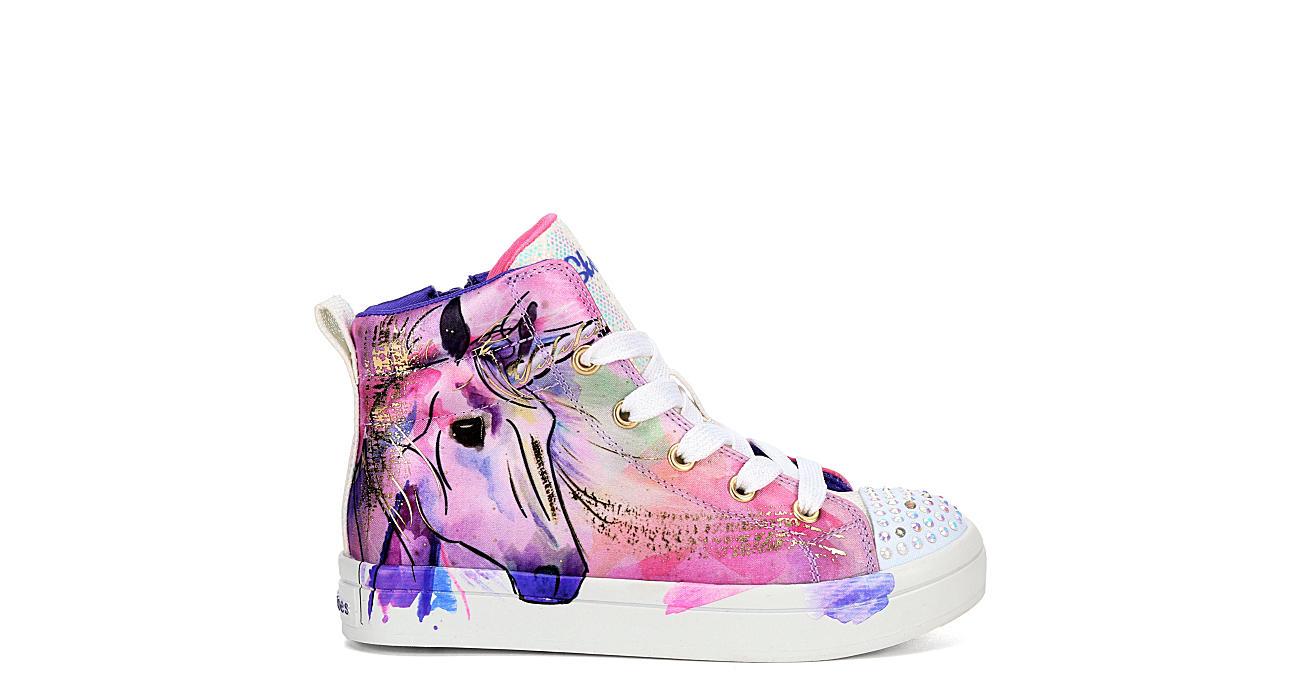 Alojamiento imperdonable Observar  Purple Skechers Girls Twinkle Toes Twi-lites - Unicorn High Top Sneaker |  Kids | Rack Room Shoes