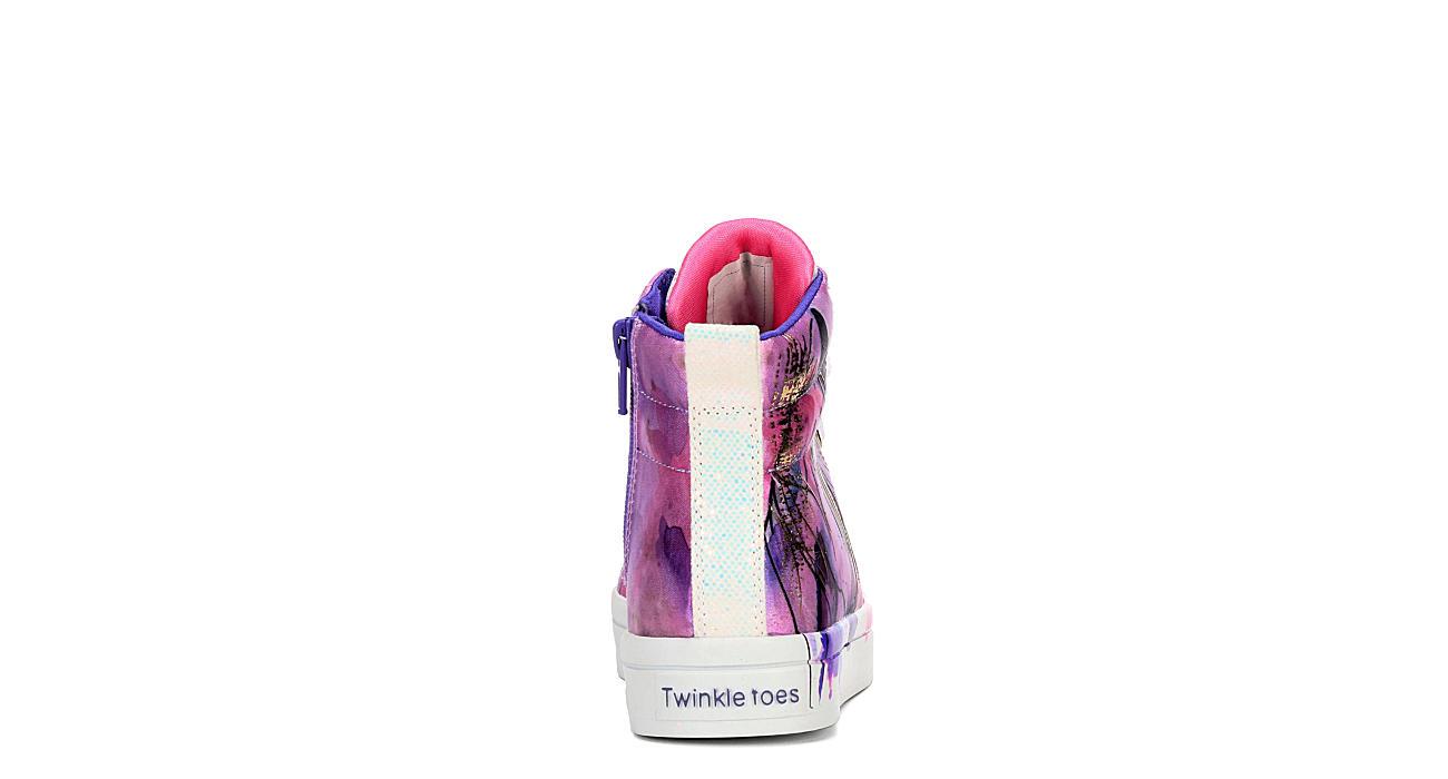 SKECHERS Girls Twinkle Toes Twi-lites - Unicorn Splash - PURPLE
