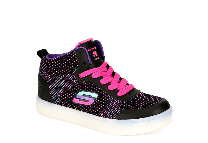 best website b6587 969b2 Black Skechers Girls Energy Lights   Athletic   Rack Room Shoes