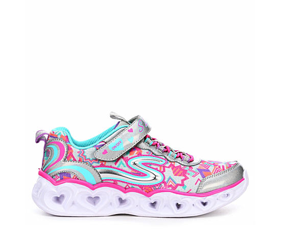 Girls Heart Lights Light Up Sneaker