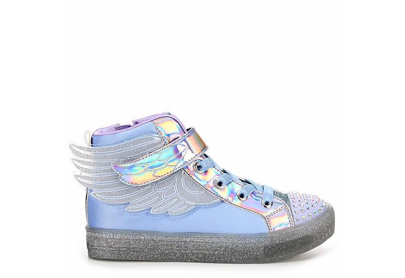 SKECHERS Girls Twinkle Toes Shuffle Brights - Sparkle Wings - MED PASTEL