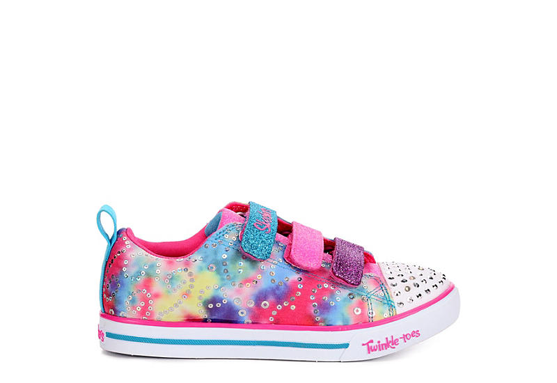 Skechers Girls Twinkle Toes Sparkle Lite Rainbow Brights Tie dye