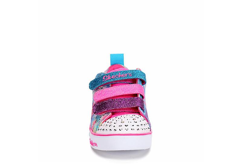 SKECHERS Girls Twinkle Toes Sparkle Lite - Rainbow Brights - TIE-DYE