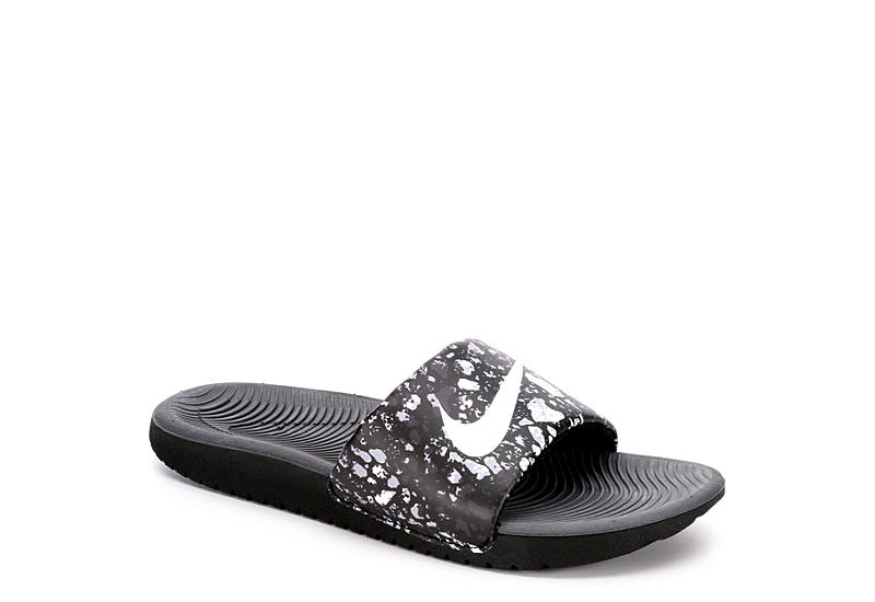 NIKE Boys Kawa Slide - BLACK