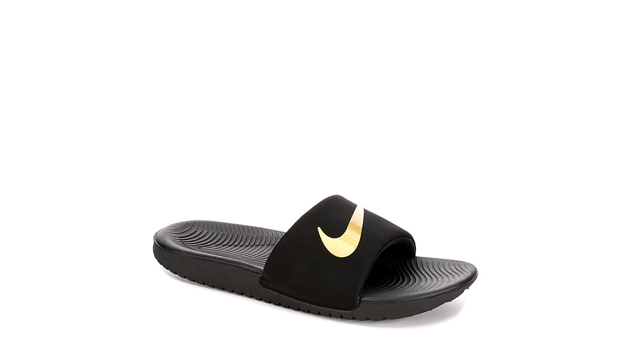 low priced 2fa40 76a36 Nike Boys Kawa Slide - Black