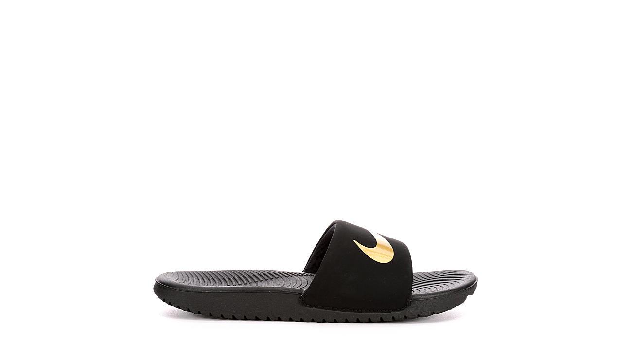 9860cde98faa Nike Boys Kawa Slide - Black