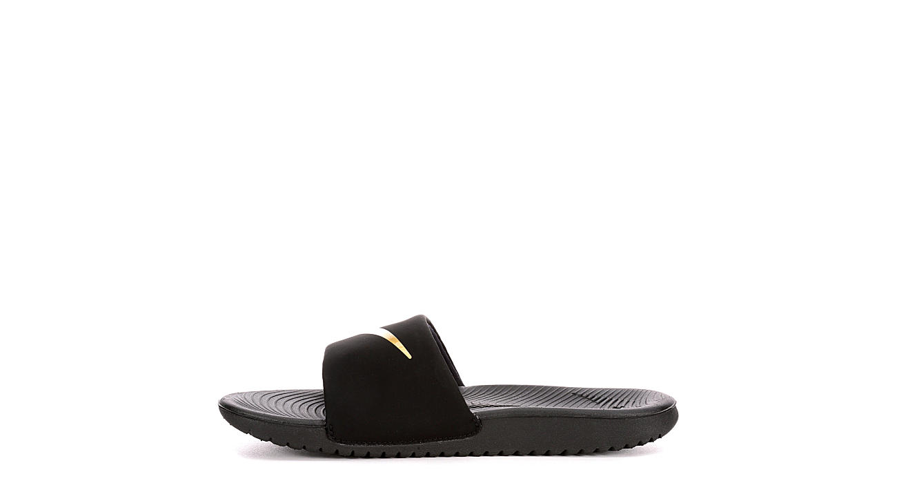 low priced 74734 18250 Nike Boys Kawa Slide - Black