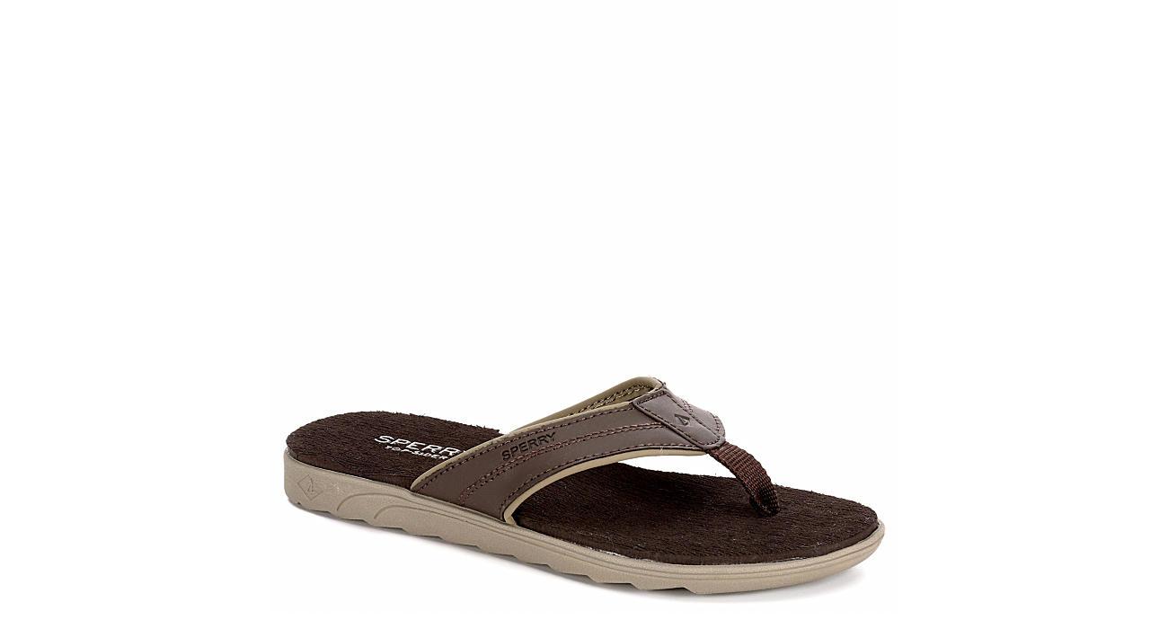 SPERRY Boys Tailside Flip Flop Sandal - BROWN