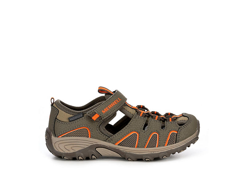 MERRELL Boys Hydro Hiker Outdoor Sandal - GREY