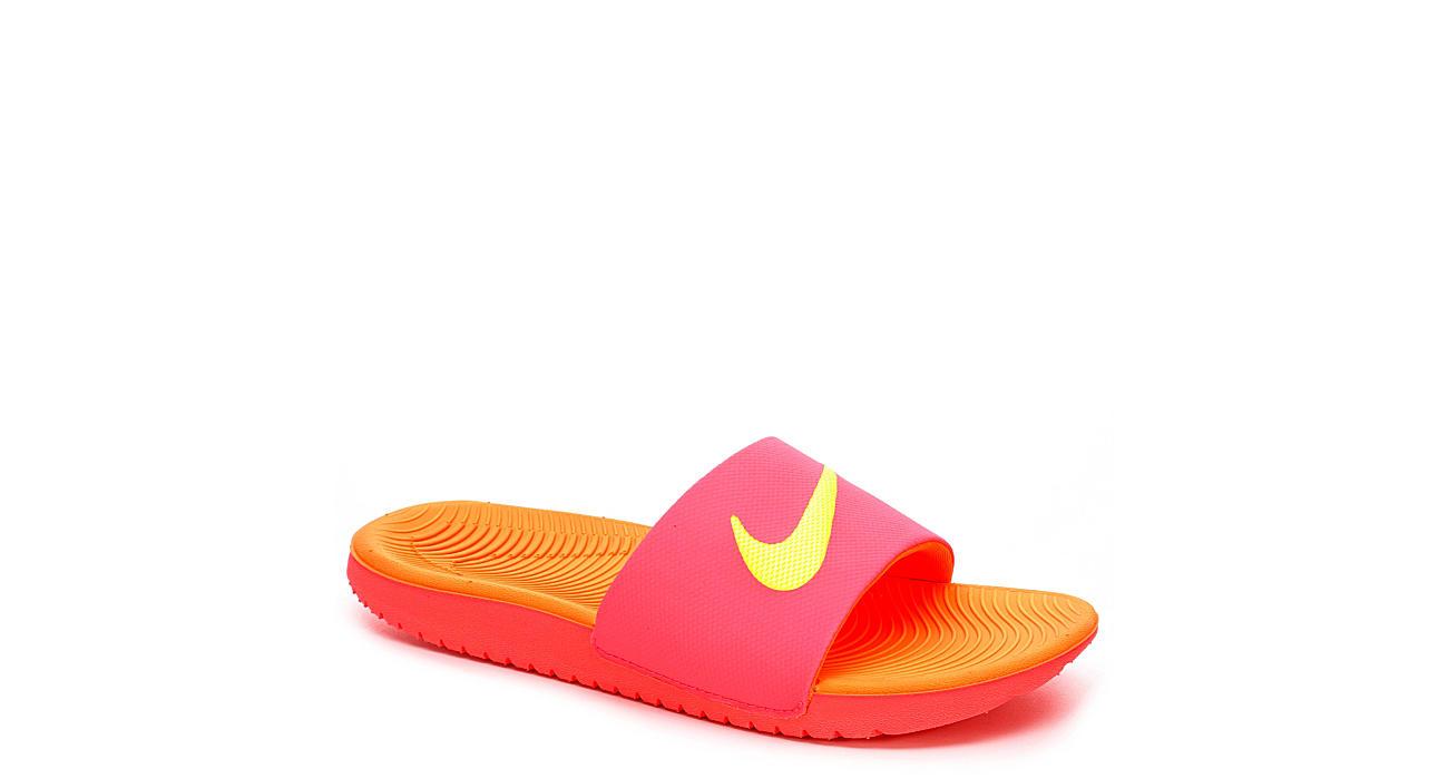 Nike Girls Kawa Slide - Bright Pink 28283bee5