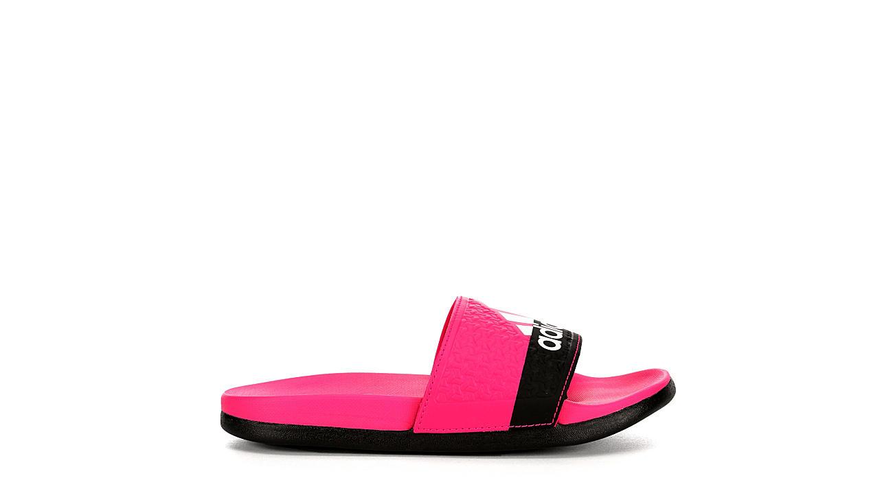 62af29b33aa293 Adidas Girls Adilette - Pink