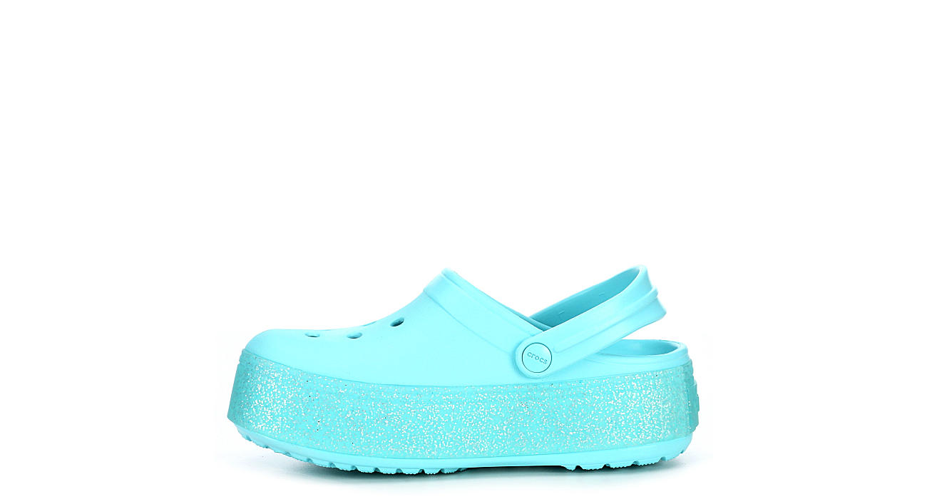 CROCS Girls Classic Crocband Platform Clog - BLUE