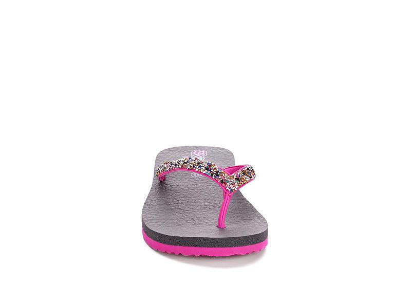 SKECHERS Girls Meditation - Sparkle Breeze Flip Flop Sandal - PINK