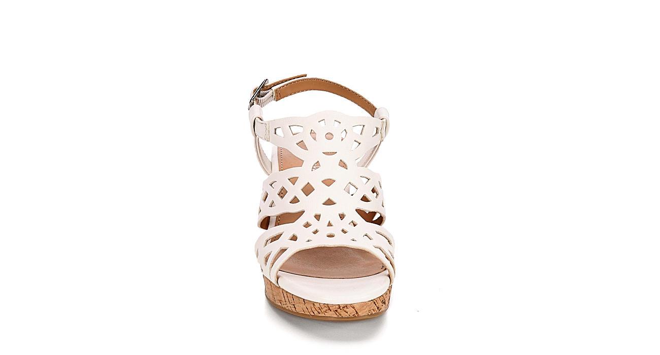 CUPCAKE COUTURE Girls Hope Wedge Sandal - WHITE
