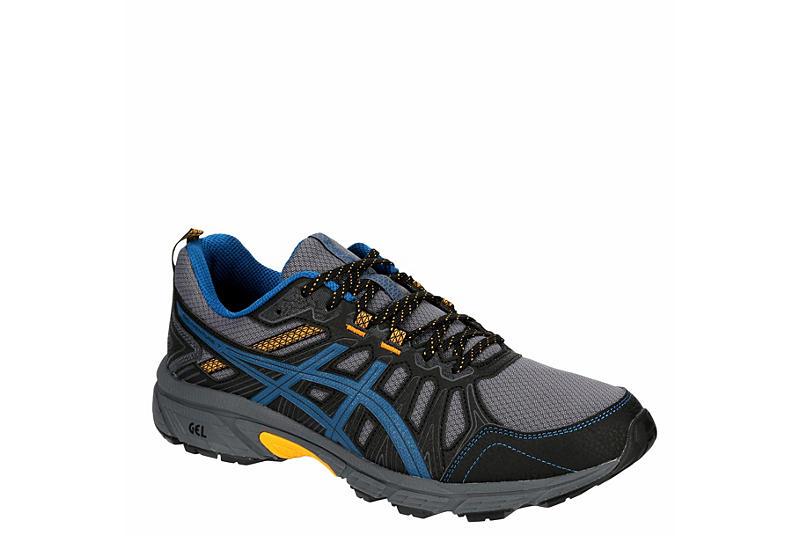 BLACK ASICS Mens Gel Venture 7 Trail Running Shoe