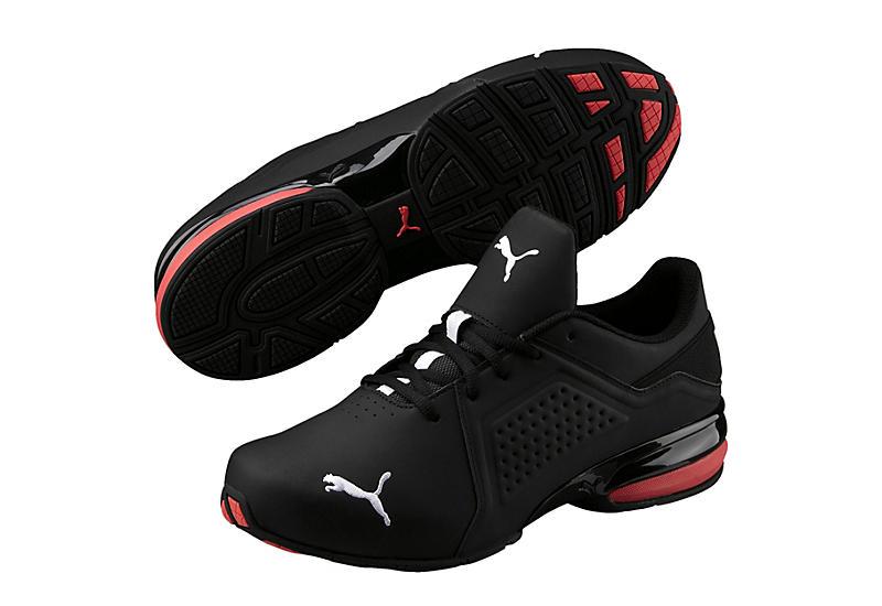 BLACK PUMA Mens Viz Runner Sneaker