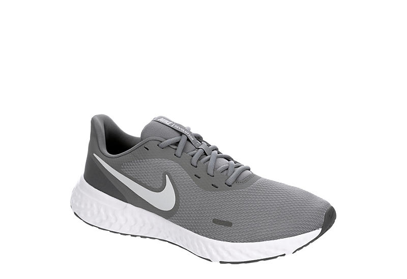 NIKE Mens Revolution 5 Running Shoe - GREY