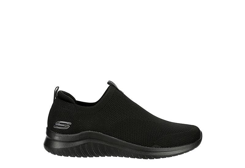 SKECHERS Mens Ultra Flex 2.0 Kwasi Slip On Sneaker - BLACK
