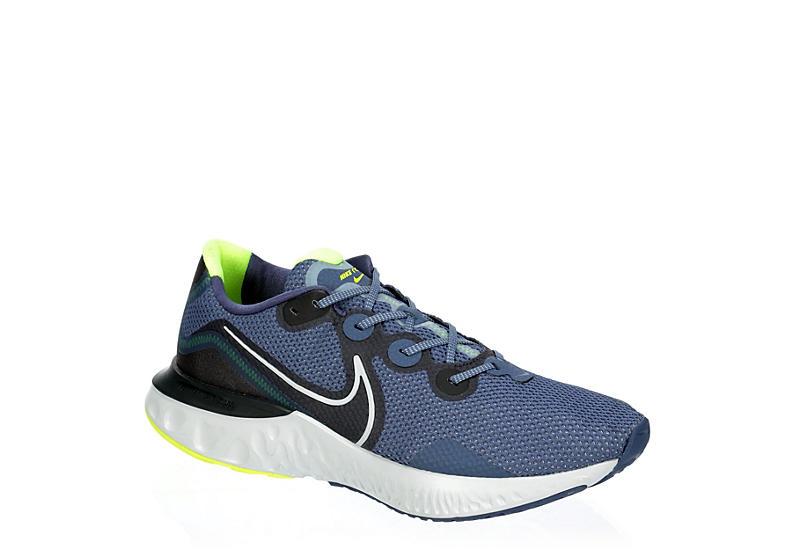 BLUE NIKE Mens Renew Run Running Shoe