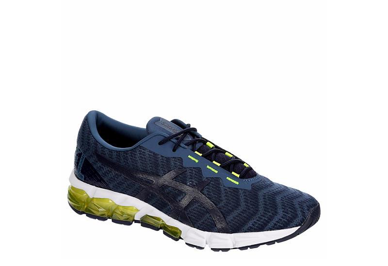 NAVY ASICS Mens Gel Quantum 180 5 Running Shoe