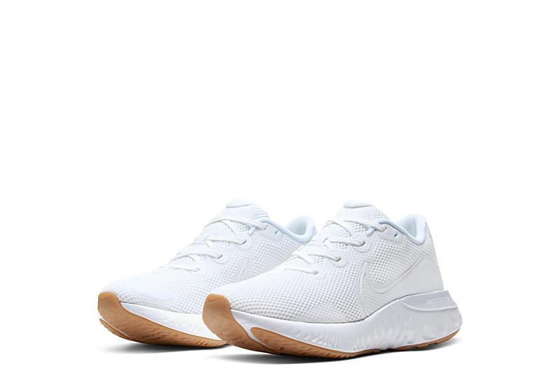 WHITE NIKE Mens Renew Run Running Shoe