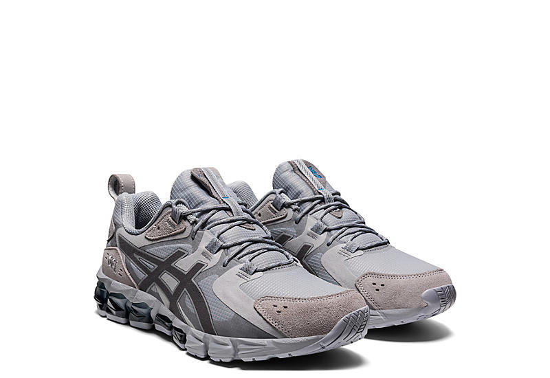 GREY ASICS Mens Gel Quantum 180 6 Running Shoe