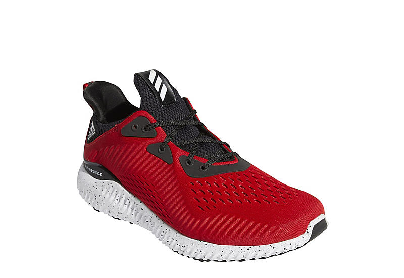 RED ADIDAS Mens Alphabounce Running Shoe