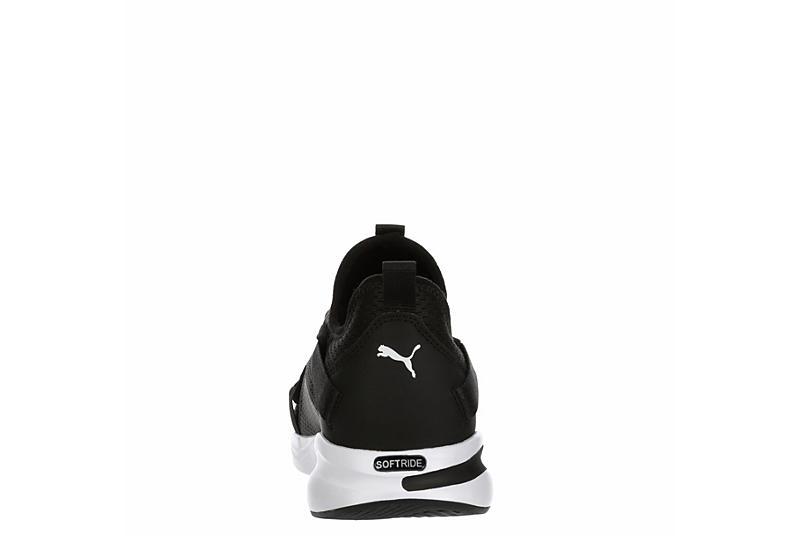 PUMA Mens Softride Slip On Bold Sneaker - BLACK