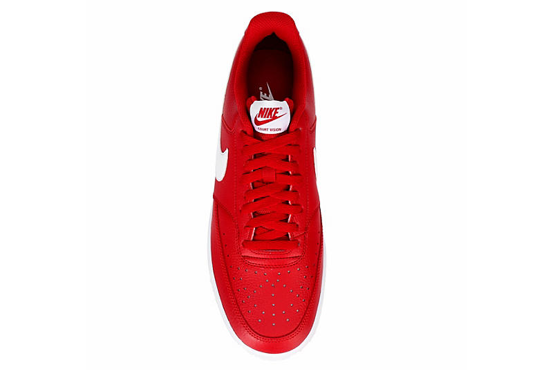 NIKE Mens Court Vision Low - RED