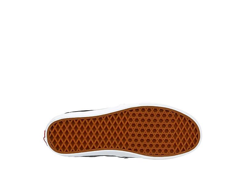 VANS Mens Asher Deluxe Slip-on Sneaker - BLACK
