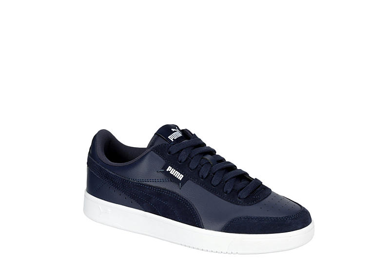 NAVY PUMA Mens Court Legend Low Sneaker