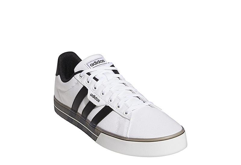 WHITE ADIDAS Mens Daily 3.0 Sneaker