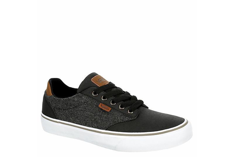 BLACK VANS Mens Atwood Deluxe Sneaker