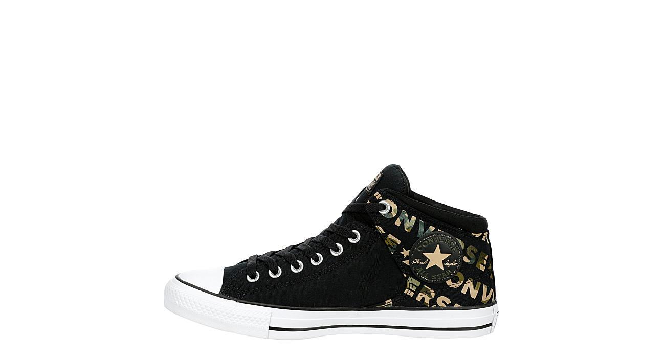 CONVERSE Mens Chuck Taylor All Star High Street Mid Sneaker - BLACK
