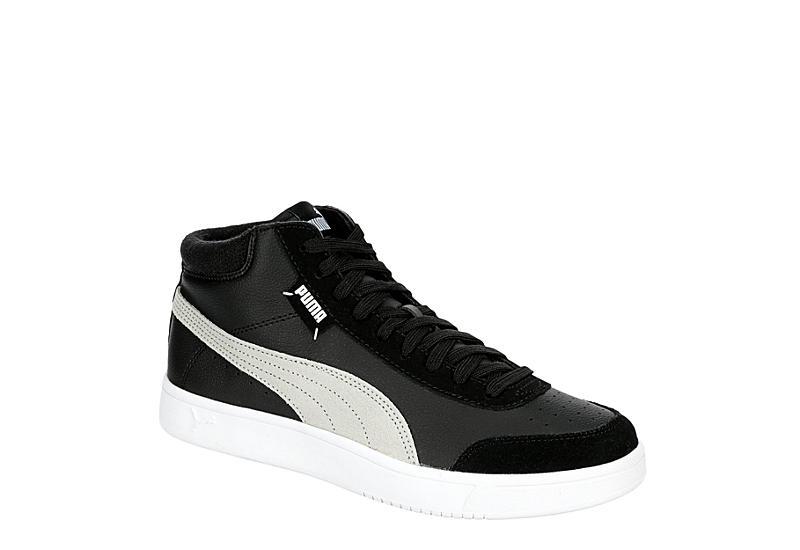 BLACK PUMA Mens Court Legend Mid Sneaker