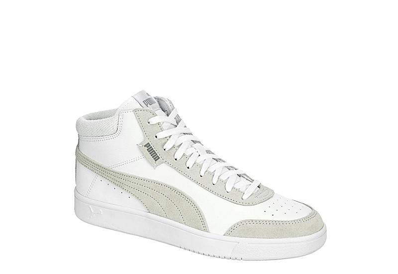 WHITE PUMA Mens Court Legend Mid Sneaker