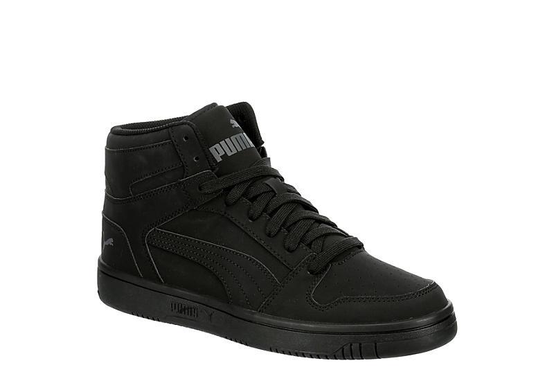 BLACK PUMA Mens Rebound Layup Mid Sneaker