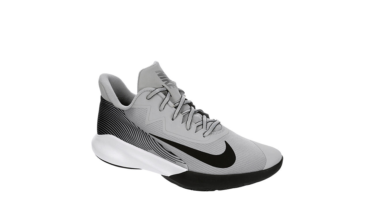 NIKE Mens Precision 4 High Top Basketball Shoe - GREY