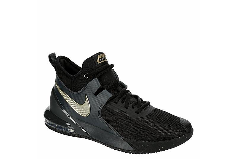 BLACK NIKE Mens Air Max Impact High Top Basketball Shoe