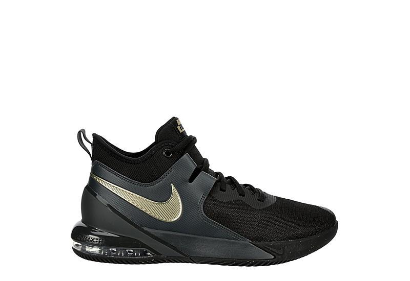 Nike Mens Air Max Impact High Top Basketball Shoe - Black