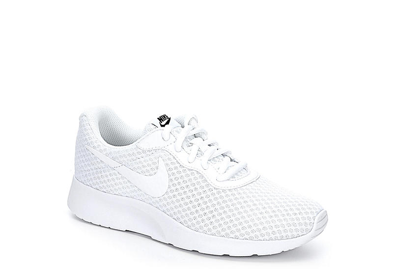 853a4ddd4d9f8b All White Nike Tanjun Women s Sneakers