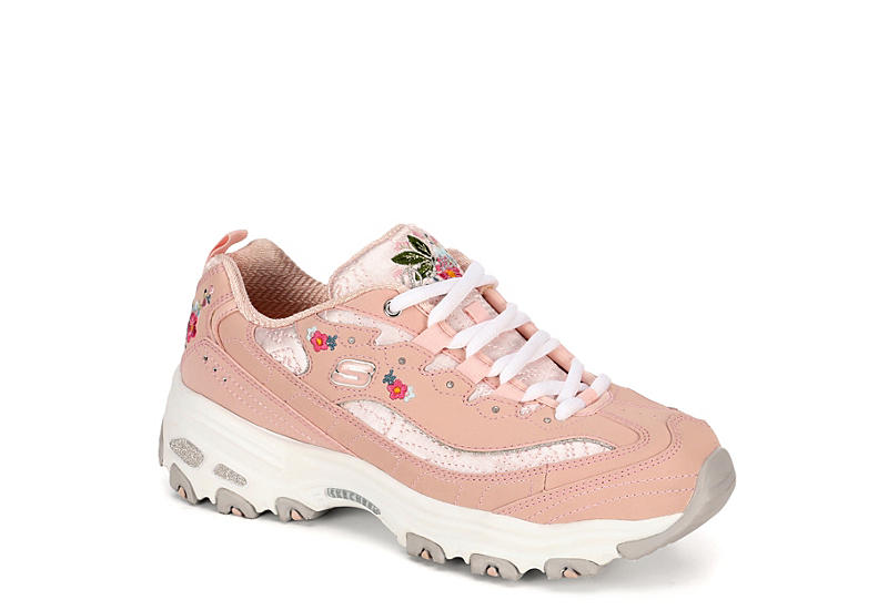 6af586a032b PALE PINK SKECHERS Womens Dlites Bright Blossoms